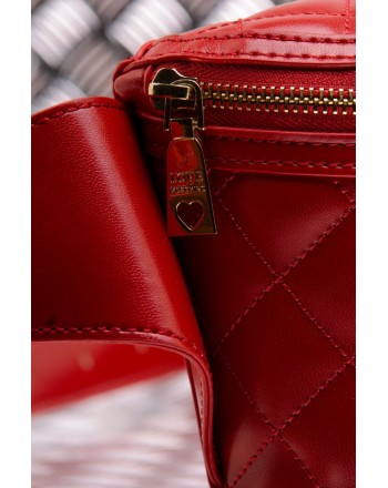 LOVE MOSCHINO -  Quilted faux leather pouch - Red