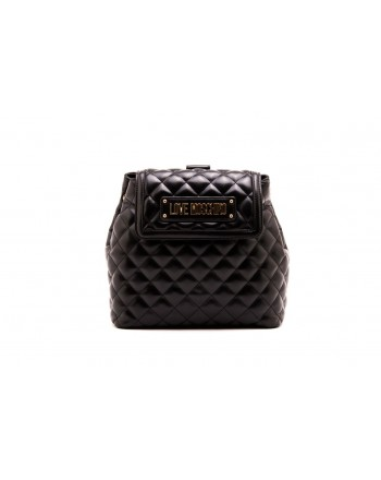 LOVE MOSCHINO -  Quilted faux leather backpack - Black
