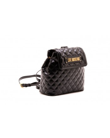 LOVE MOSCHINO - Zaino in ecopelle trapuntato - Nero