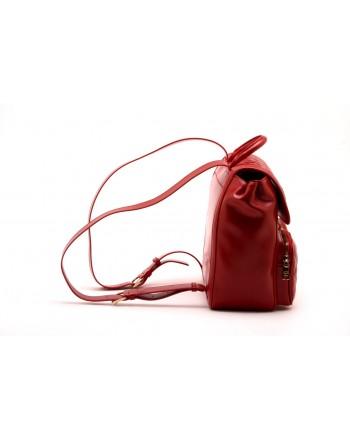 LOVE MOSCHINO - Zaino in ecopelle trapuntato - Rosso