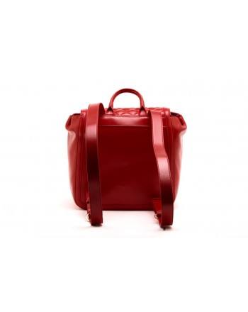 LOVE MOSCHINO -  Quilted faux leather backpack - Red