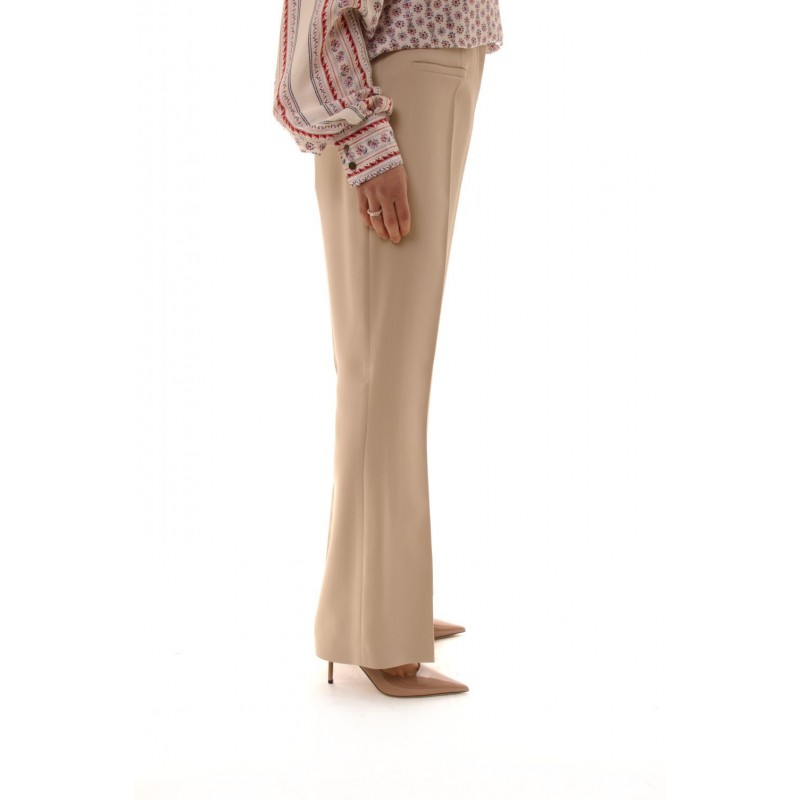 ALBERTA FERRETTI - Classic Cut Trousers - Champagne
