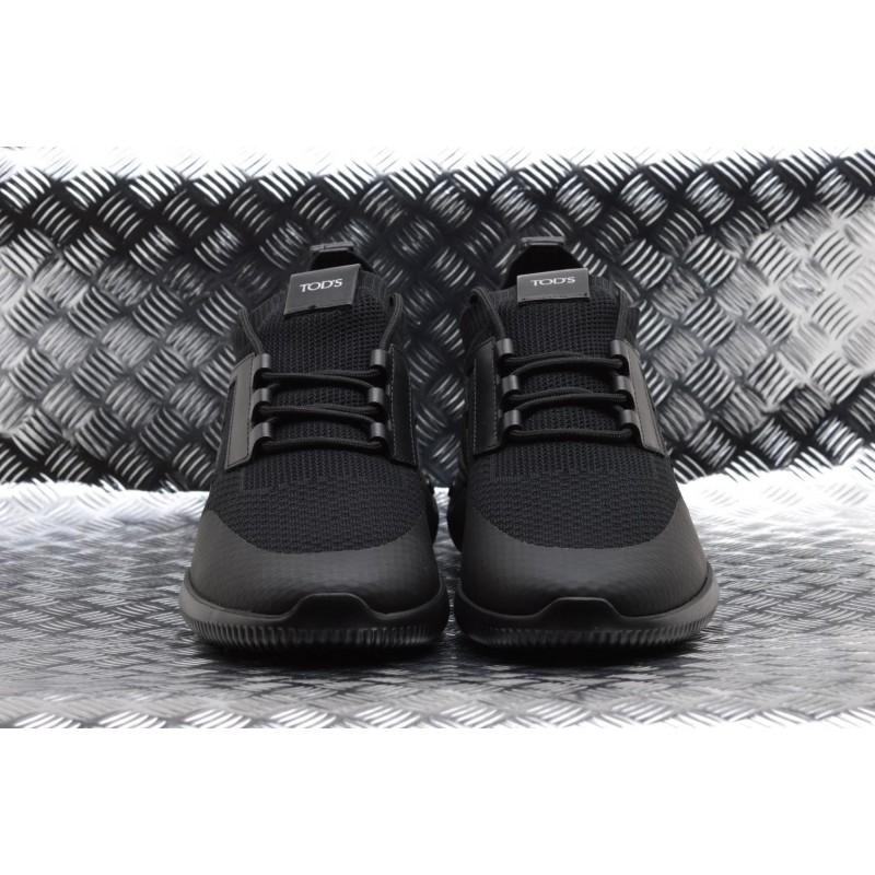 TOD'S -  Sneakers in Pelle e Tessuto Tecnico - Nero