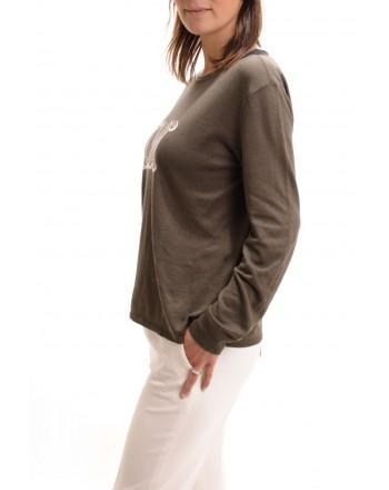 MAX MARA - Printed cotton T-shirt - KaKi