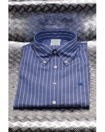 BROOKS BROTHERS - Camicia MILANO in cotone - Open Blue