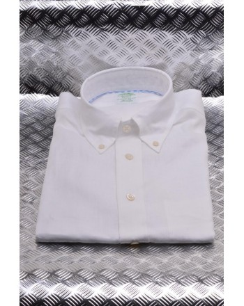 BrooksBrothers -  Camicia in lino - Bianco