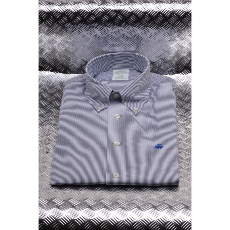 BROOKS BROTHERS - Camicia MILANO in cotone - Stp Navy