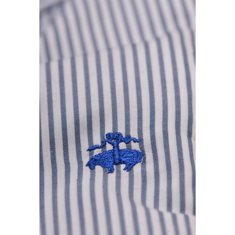 BROOKS BROTHERS - MILANO cotton shirt - - Stp Navy