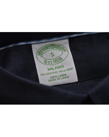 BrooksBrothers -  Camicia in lino - Blu Medio