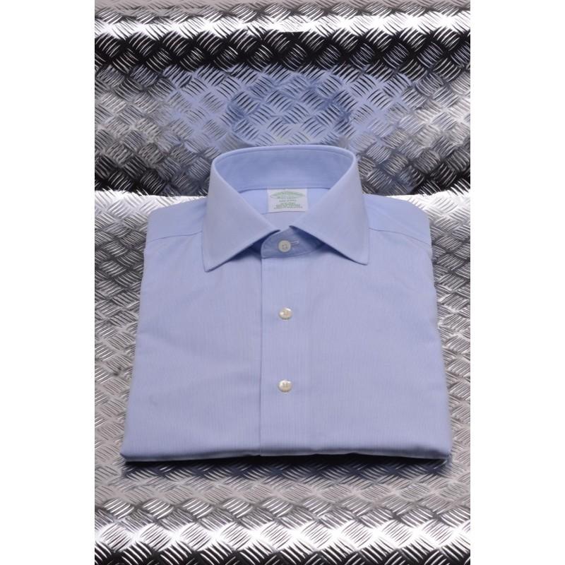BROOKS BROTHERS -  MILANO cotton shirt - Sky