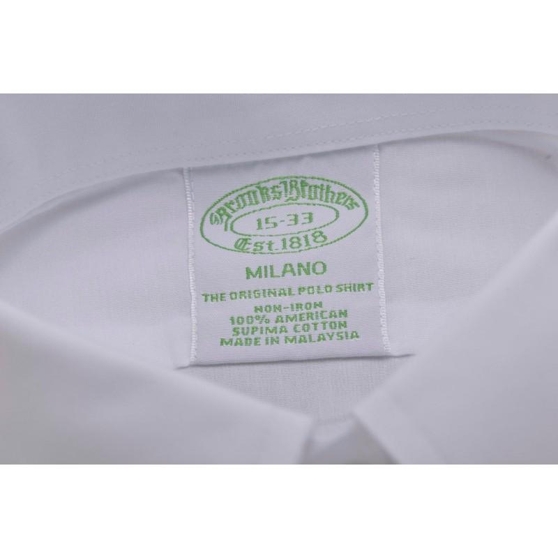 BROOKS BROTHERS - MILANO cotton shirt - White
