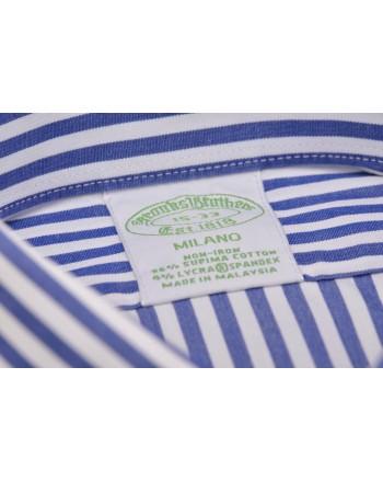 BROOKS BROTHERS - Camicia MILANO in cotone elasticizzato - Rigato