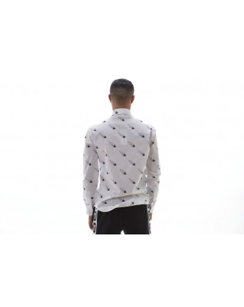 MCQ BY ALEXANDER MCQUEEN -  Camicia in Cotone a Stampa FLAMING - Bianco