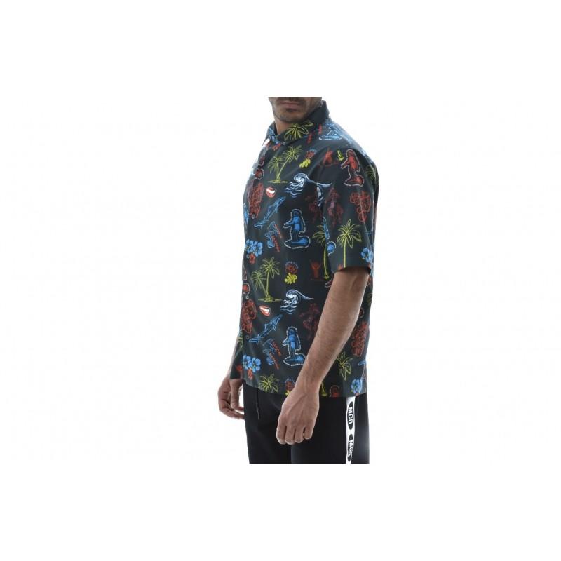 MCQ BY ALEXANDER MCQUEEN -  Cotton Shirt BILLY  - Black