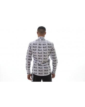 MCQ BY ALEXANDER MCQUEEN -  Camicia in Cotone Stampa Logo SHIELDS  - Bianco