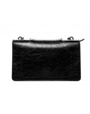 PINKO - LOVE Bag with Studs - Black