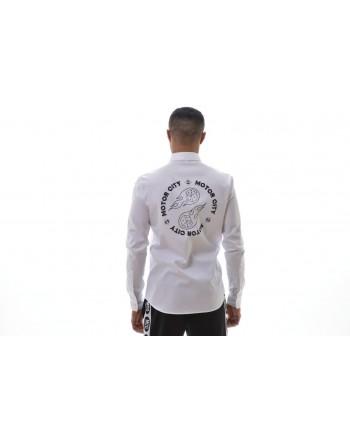MCQ BY ALEXANDER MCQUEEN -  Camicia in Cotone con Stampa CURTIS - Bianco