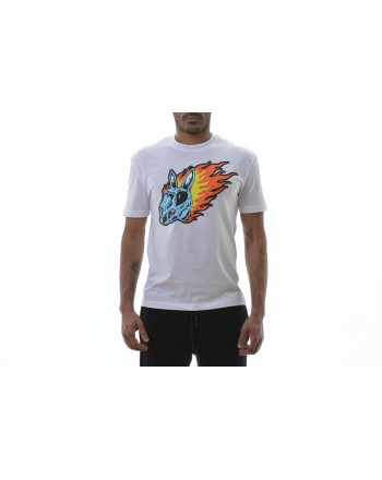 MCQ BY ALEXANDER MCQUEEN - T-shirt in cotone con stampa - Bianco