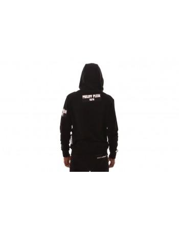 PHILIPP PLEIN - Logo Cotton Sweatshirt - Black