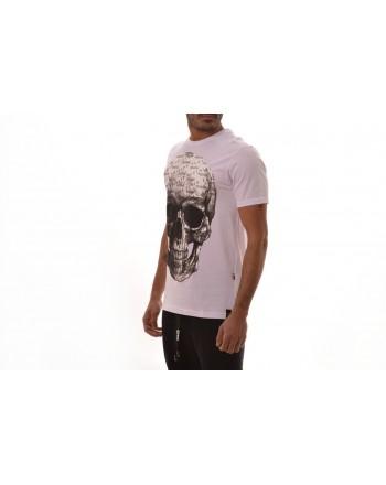 PHILIPP PLEIN - Logo Skull Cotton T-Shirt  - White
