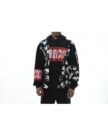 MCQ BY ALEXANDER MCQUEEN - Hood Sweatshirt with Print - Black