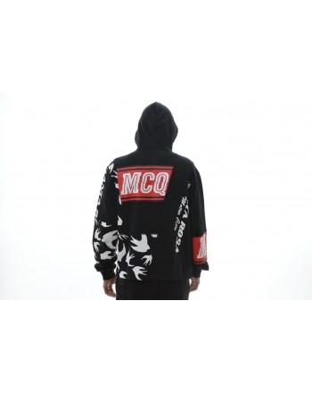 MCQ BY ALEXANDER MCQUEEN - Hood Sweatshirt with Print - Black