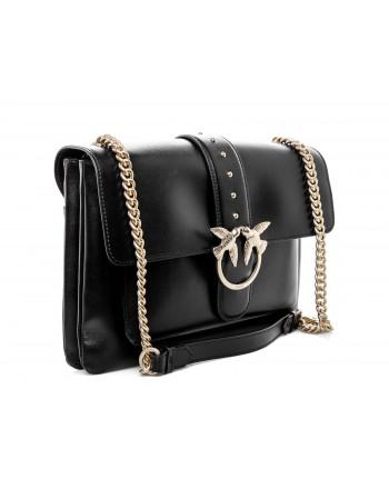 PINKO -  BIG LOVE SIMPLY Bag - Black