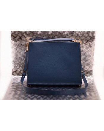 MICHAEL BY MICHAEL KORS - Leather Shoulder Bag with Pocket - Dark Chambry