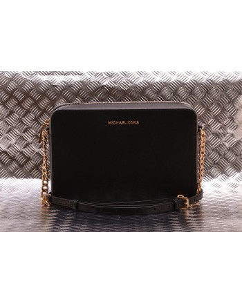 MICHAEL BY MICHAEL KORS -  Large Jet Set shoulder bag in Saffiano leather Nero