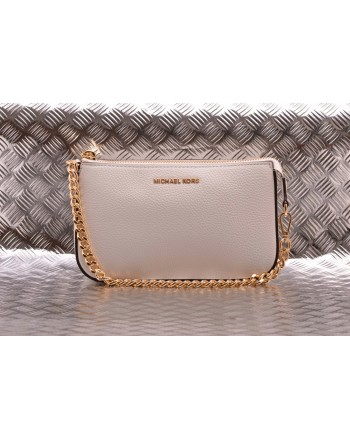 MICHAEL BY MICHAEL KORS -  Borsa POCHETTE CHAIN in Pelle  - Bianco