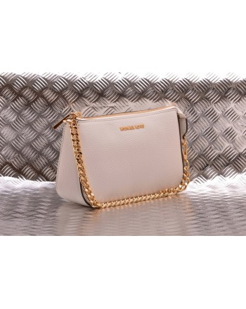 MICHAEL BY MICHAEL KORS -  Leather POCHETTE CHAIN  Bag  - White