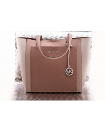 MICHAEL BY MICHAEL KORS -  GEMMA leather bag - Soft Pink/Brown
