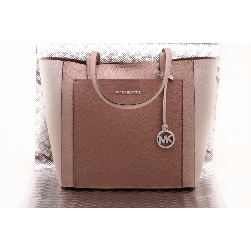 MICHAEL BY MICHAEL KORS - Borsa GEMMA in pelle - Soft Pink/Brown