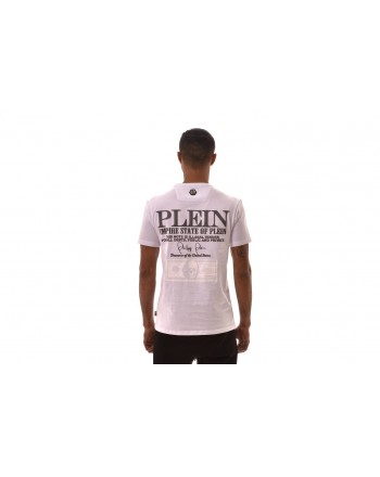 PHILIPP PLEIN - Cotton T-Shirt  PLATINUM DOLLAR Print - White