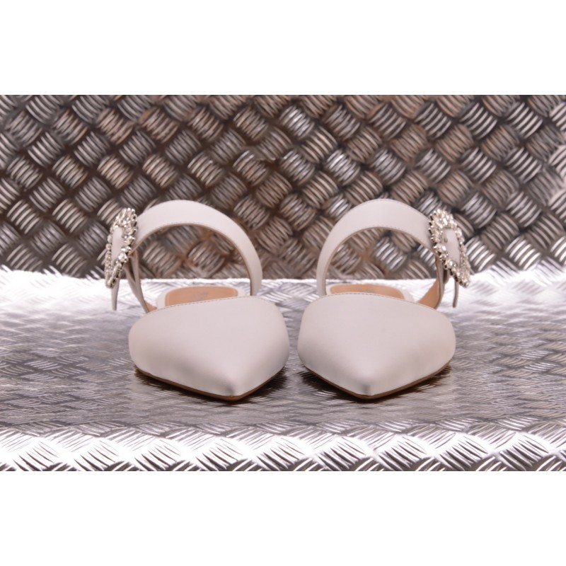 MICHAEL BY MICHAEL KORS -  Leather Flats VIOLA - White