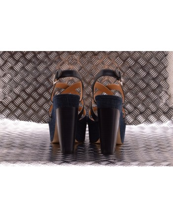 MICHAEL BY MICHAEL KORS -  Sandalo con Tacco Largo in Denim- Indigo