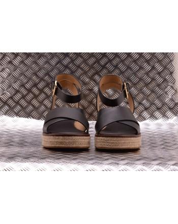 MICHAEL BY MICHAEL KORS -  Sandalo in Pelle e Canapa ABBOTT - Nero
