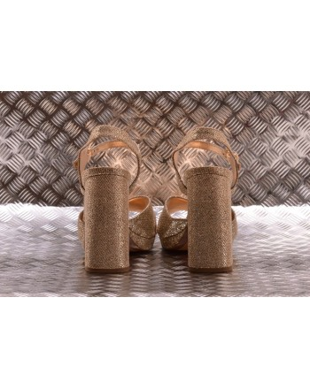 MICHAEL BY MICHAEL KORS -  Sandalo incrociato con Glitter - Sabbia