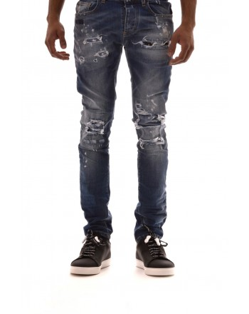 FRANKIE MORELLO -.Jeans con Strappi JAMES - Denim