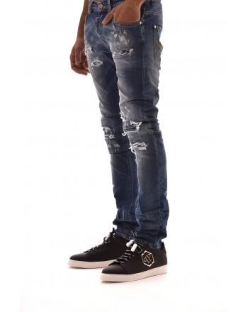 FRANKIE MORELLO -.Jeans con Strappi JAMES - Denim