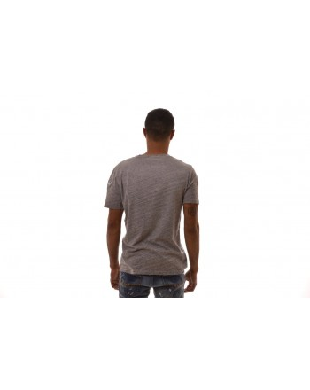 FRANKIE MORELLO - T-Shirt in Cotone con Patch - Grigio Melange