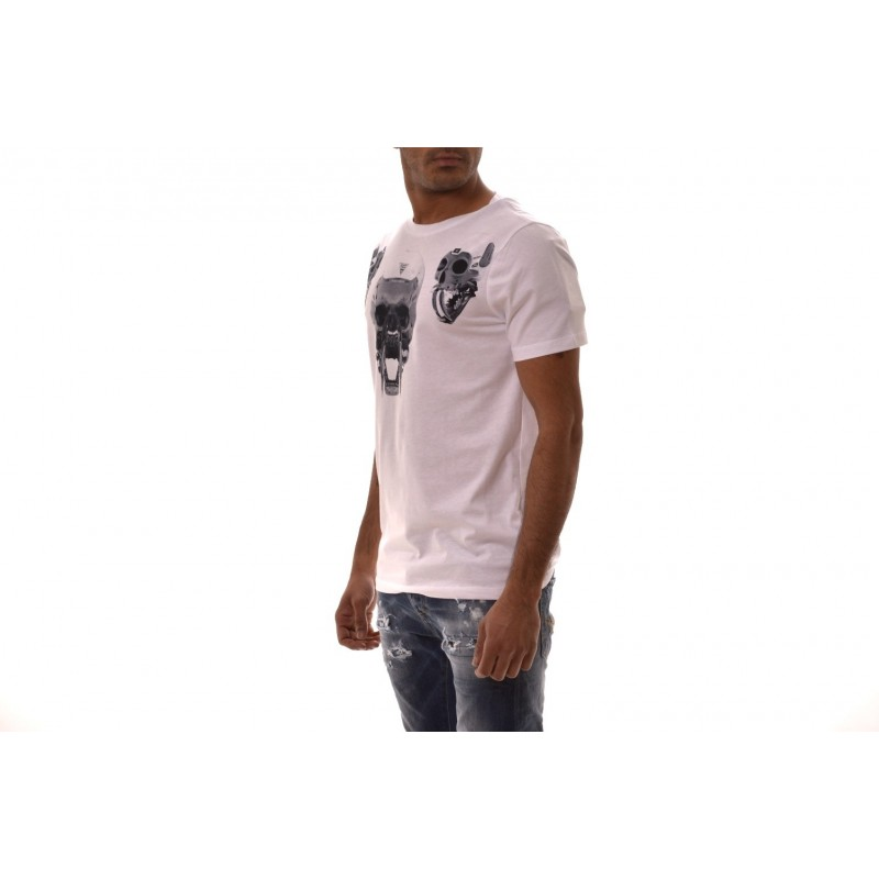 FRANKIE MORELLO -  AGOSTINO  T-Shirt in cotton - White