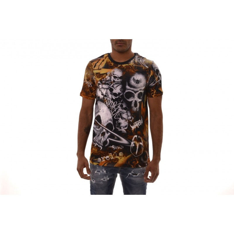 FRANKIE MORELLO - HERMAN cotton t-shirt - Black