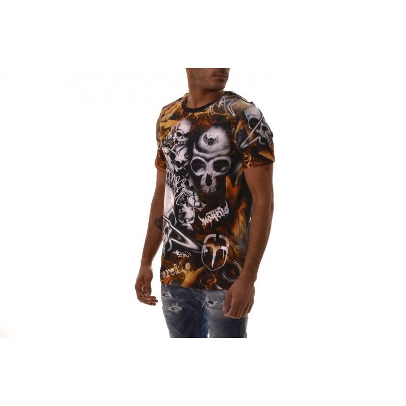 FRANKIE MORELLO - T-shirt HERMAN in cotone - Nero