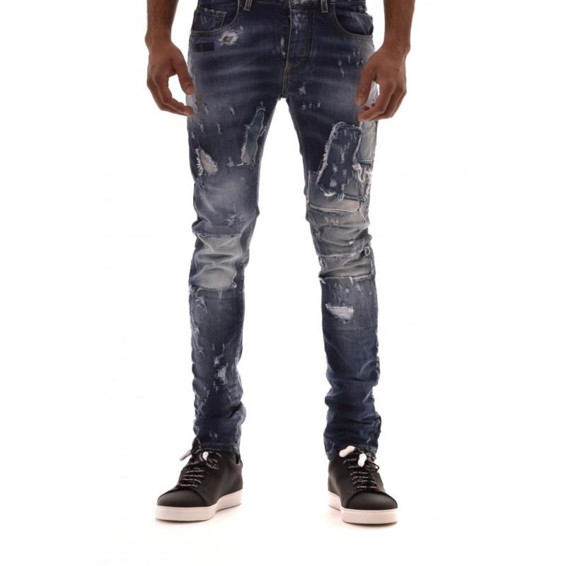 FRANKIE MORELLO -.Jeans con Strappi COVEN - Denim