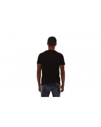 FRANKIE MORELLO - T-Shirt LUCAS in cotone con stampa frontale - Nero