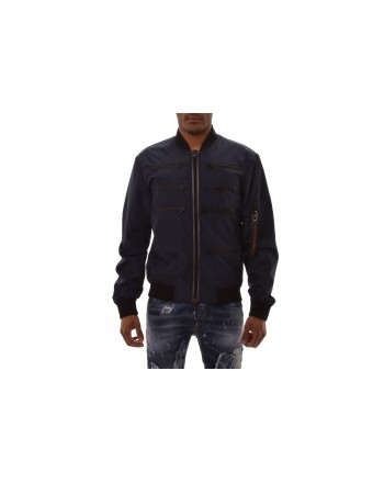 FRANKIE MORELLO - Multi Zipper Jacket - Navy