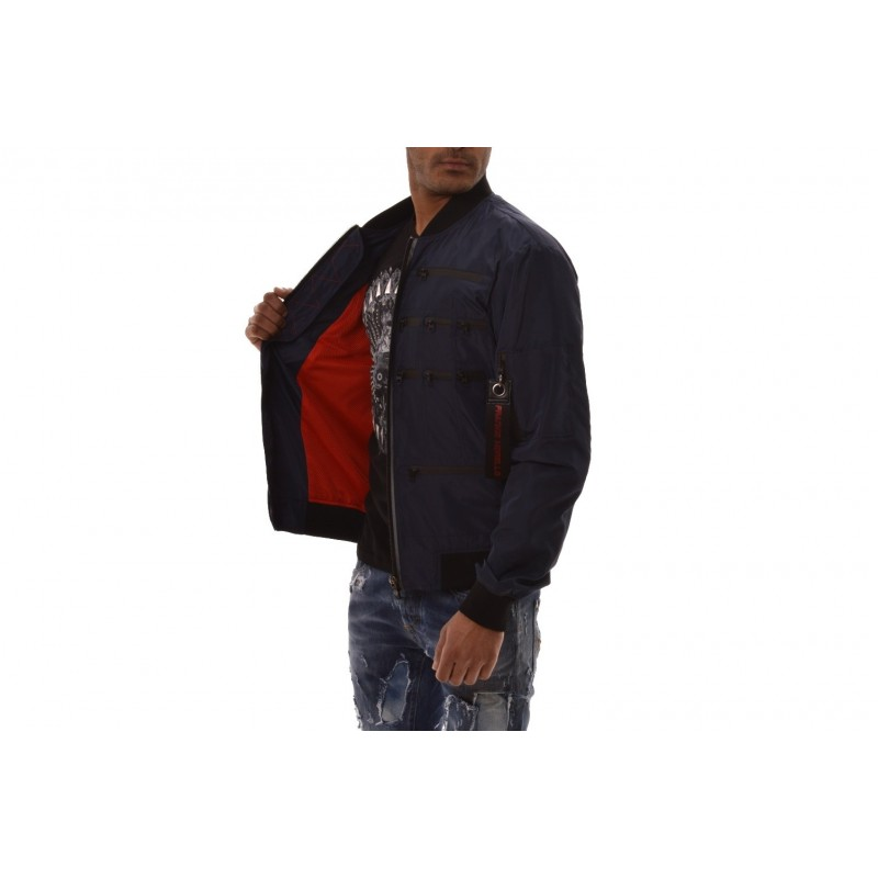 FRANKIE MORELLO - Multi Zipper Jacket - Navy