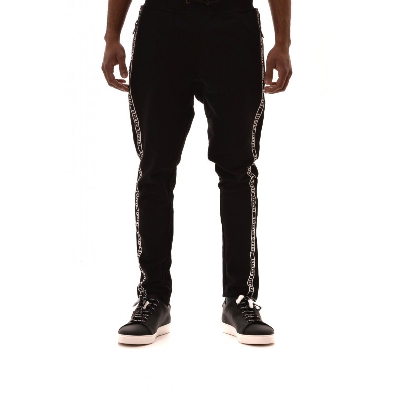 FRANKIE MORELLO -  Cotton trousers with printed - Black