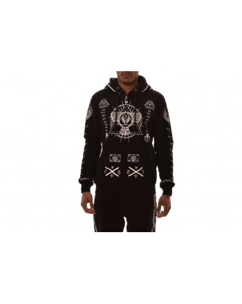 FRANKIE MORELLO -  Hooded sweatshirt with printed - Black